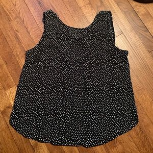 LOFT Dotted Tie-back Cutout Shell